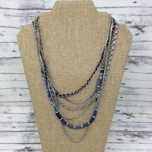 White House Black Market Lapis Necklace